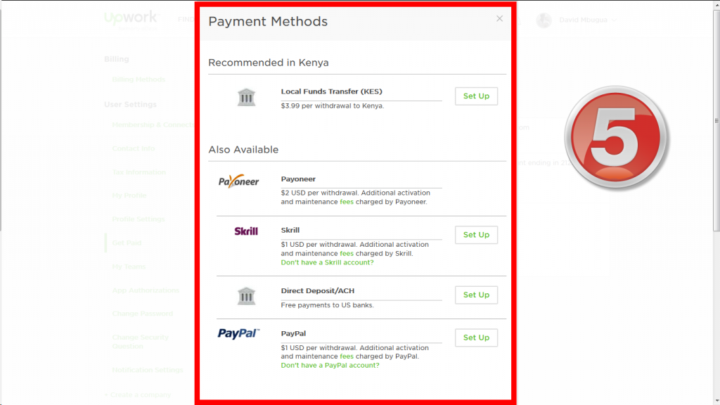 Set up Payment Method 4